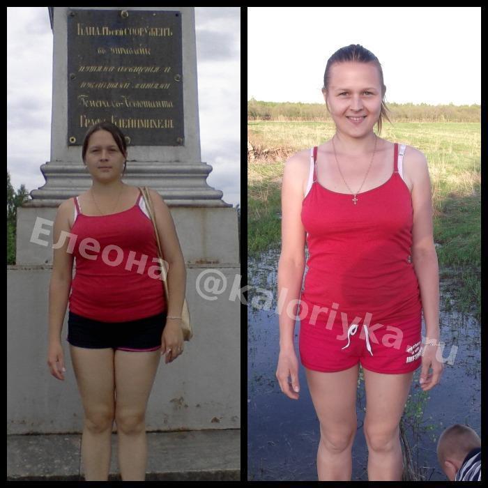 калорийка до и после