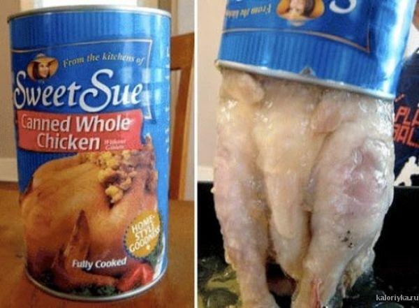 Цельная курица в консервах