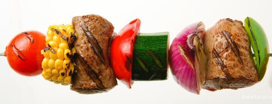 Диетический шашлык из рыбы и морепродуктов