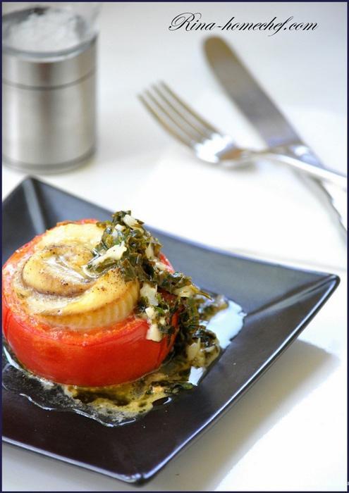 Помидоры   филе рыбы   соль   специи по вкусу   растительное масло