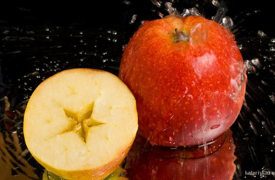 Упражнение с яблоком
