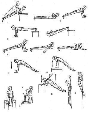 Упражнения для рук в домашних