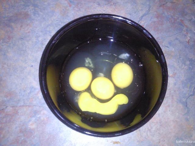 заготовка.омлет был вкусным и веселым.впрочем как и настроение после такой улыбки!! :)